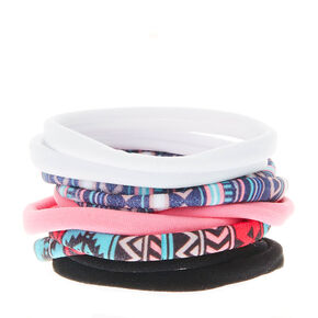 Aztec Pastel Rolled Hair Ties - 10 Pack,