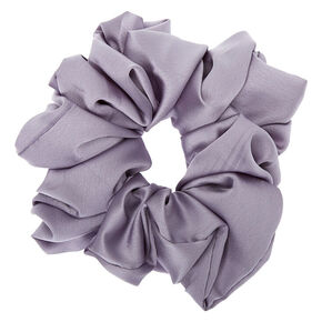 Giant Satin Hair Scrunchie - Grey,