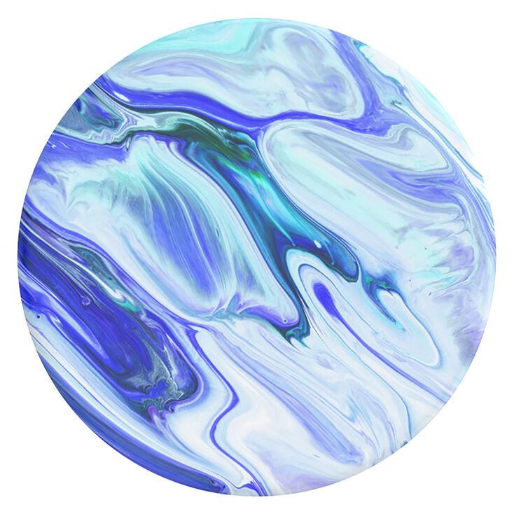 PopGrip PopSockets interchangeable - Bleu effet marbré,