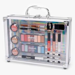 Silver Briefcase 16 Piece Makeup Set,