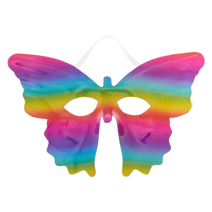 Rainbow Sparkle Butterfly Mask,