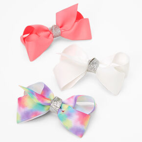 Claire's Club Loopy Bow Hair Clips - 3 Pack,