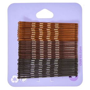 Brunette Blend Bobby Pins - Brown, 30 Pack,