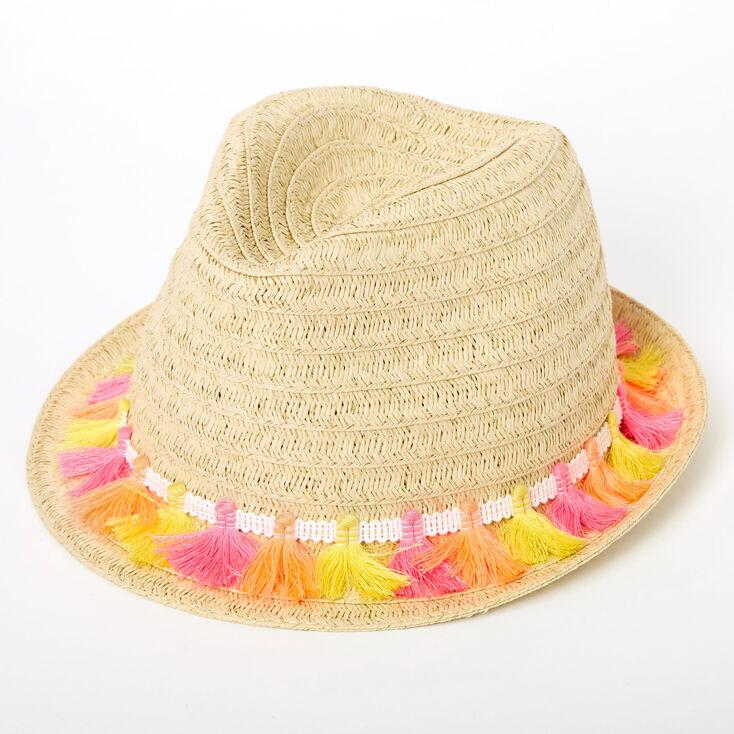 Neon Tassels Fedora Hat,