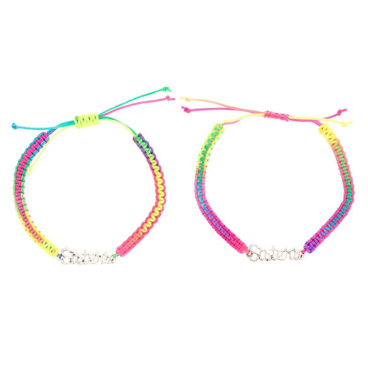 Rainbow Adjustable Sisters Bracelets - 2 Pack,