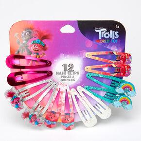Trolls World Tour Snap Hair Clips Wheel - 12 Pack,