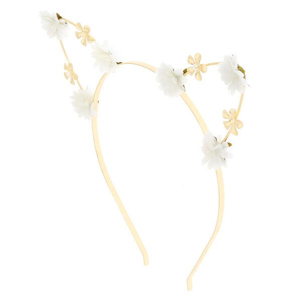 Claire's - petal cat ears headband - 1