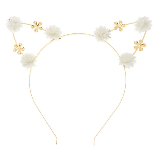 Claire's - petal cat ears headband - 2