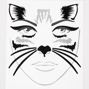 Black Kitty Cat Face Stickers,