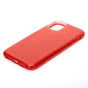Red Glitter Protective Phone Case - Fits iPhone 11,
