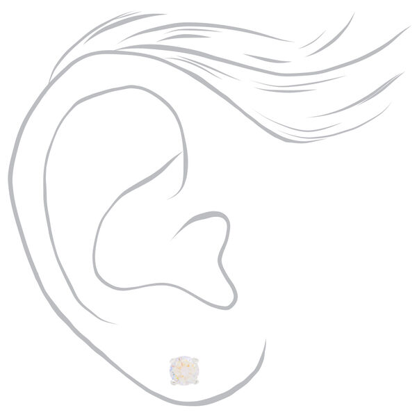 Claire's - sterling 5mm cubic zirconia stud earrings - 2