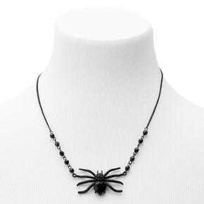 Hematite Spider Gem Statement Necklace,