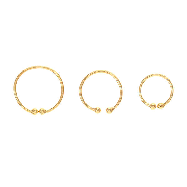 Claire's - 3 pack clip on body hoops - 1
