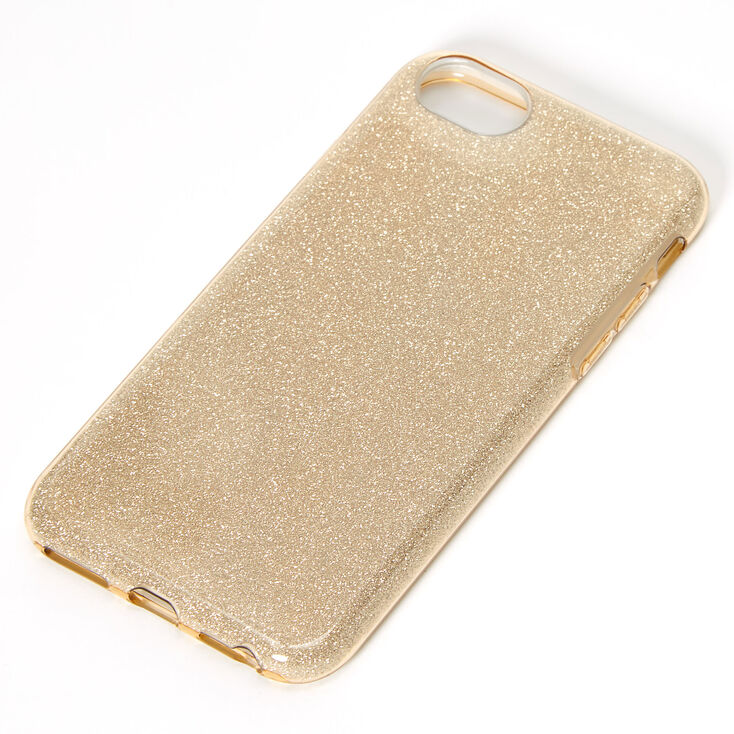Gold Glitter Protective Phone Case - Fits iPhone 6/7/8/SE,