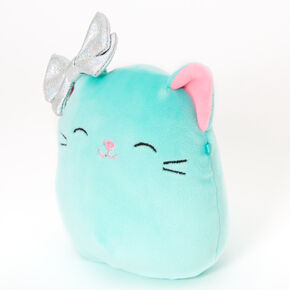 "Squishmallows™ 5"" Claire's Cat Soft Toy - Mint,"