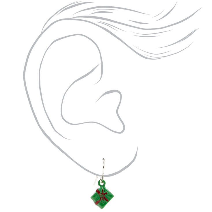 Silver Christmas Spirit Mixed Earrings - 20 Pack,