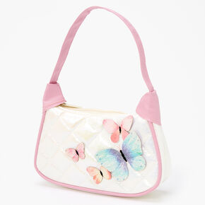 Claire's Club Glitter Butterfly Handbag - Pink,