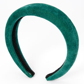 Cord Puff Headband - Green,
