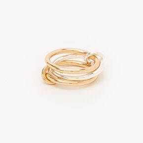 Mixed Metal Two Tone Triple Ring,