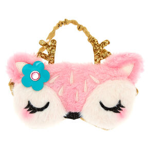 Claire's Club Deer Sleeping Mask - Pink,