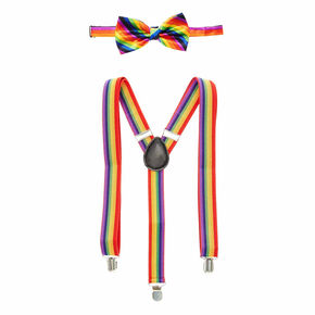 Rainbow Braces & Satin Bowtie Set,