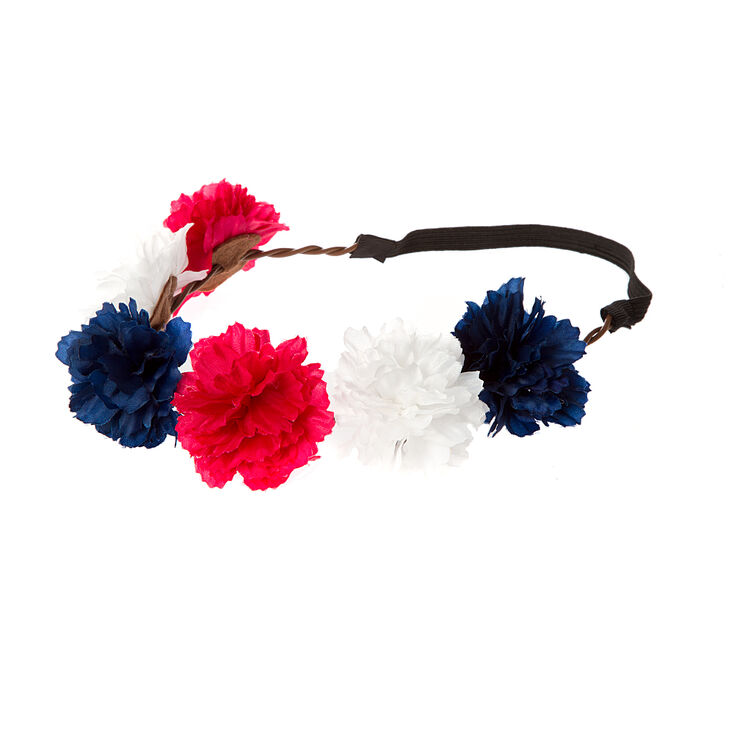 Red, White and Blue Flower Crown | Claire\'s