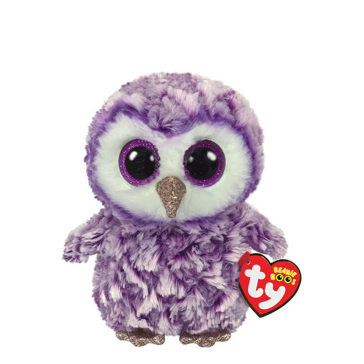 Ty Beanie Boo Small Moonlight the Owl Soft Toy,