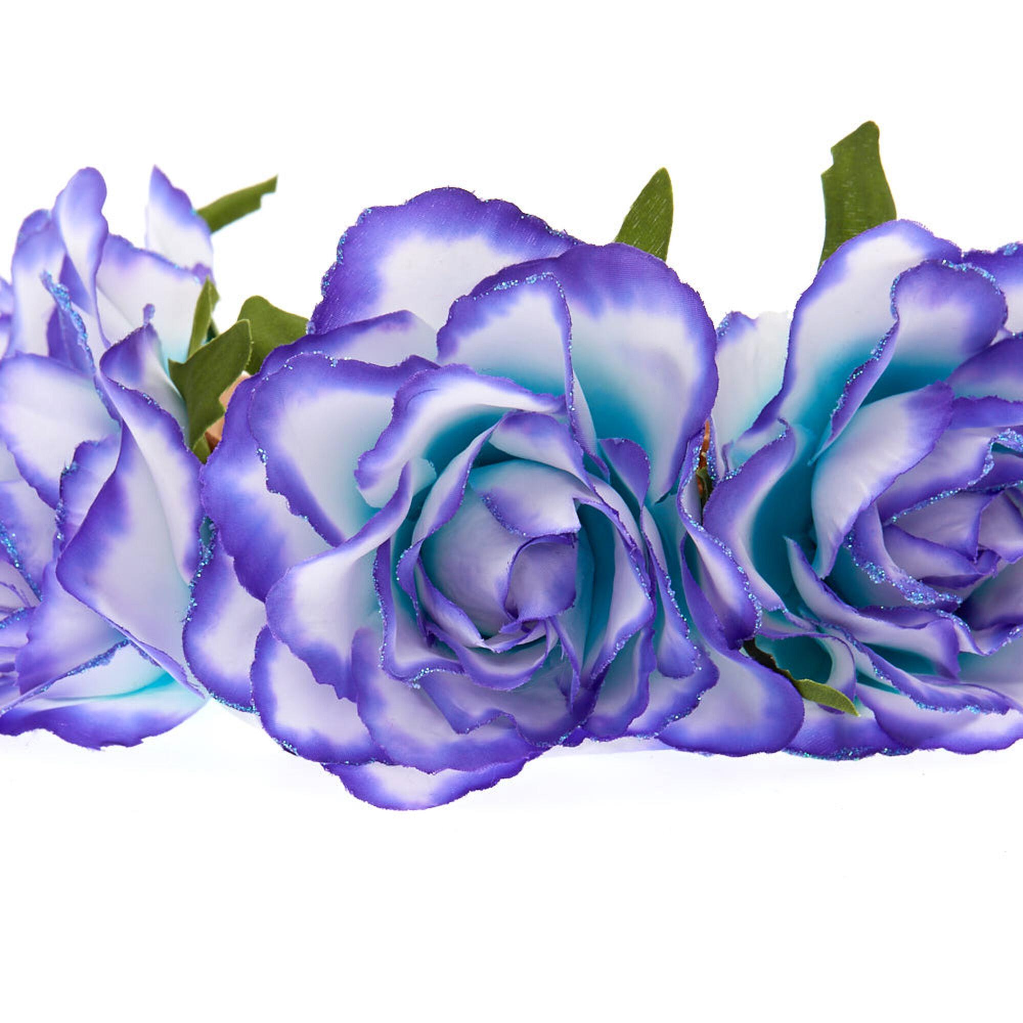 Ombre Flower Crown Headwrap Purple To Mint Claires Us
