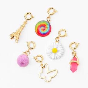 'Make Your Own' Charm Bangle Bracelet - Gold,