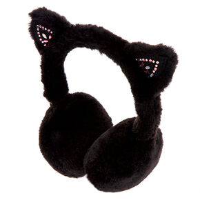 Go to Product: Embellished Cat Soft Ear Muffs - Black from Claires