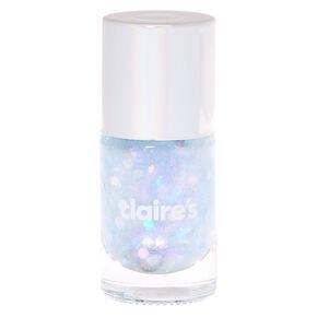 Silver Pastel Glitter Nail Polish,