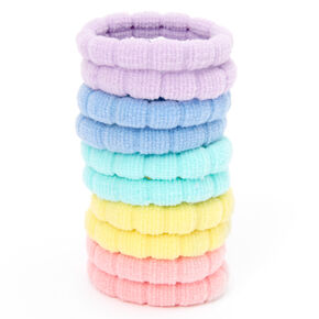 Claire's Club Pastel Rainbow Hair Ties - 10 Pack,