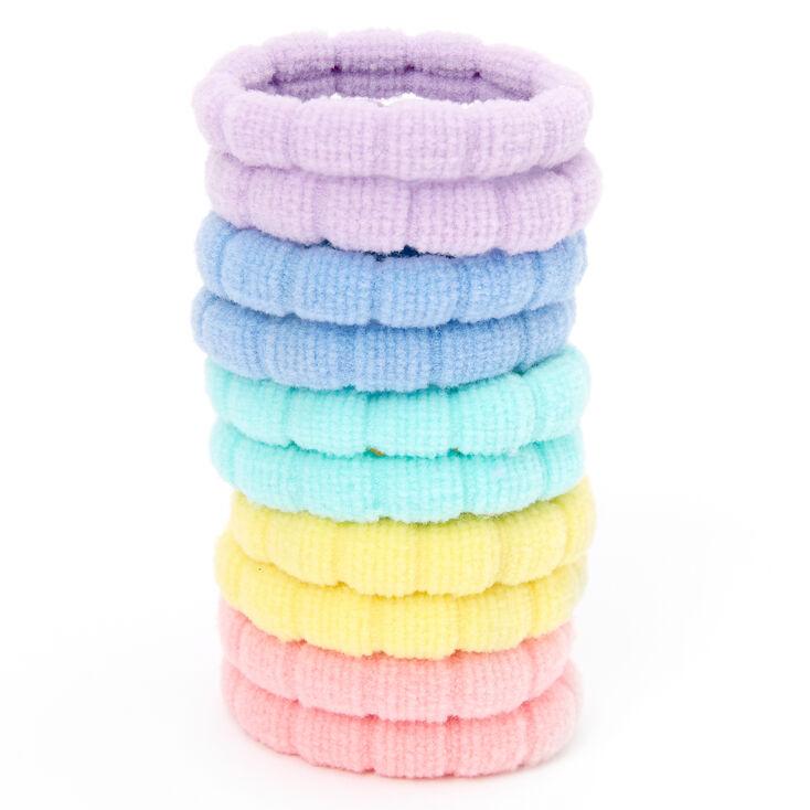 Claire's Club Pastel Rainbow Hair Ties - 10 Pack,