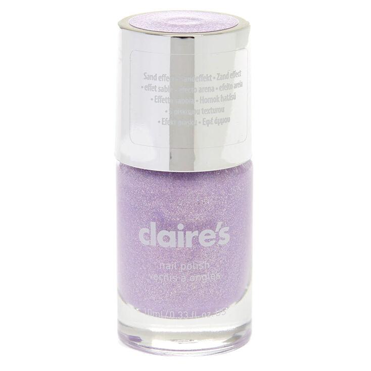Vernis à ongles pailleté effet sable - Violet pastel,