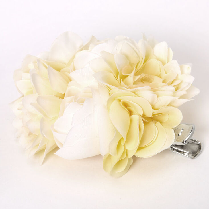Bouquet Of Flowers Hair Clip - Yellow,