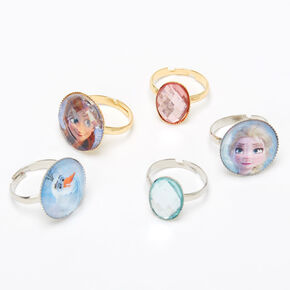 ©Disney Frozen 2 Silver rings - 5 Pack,