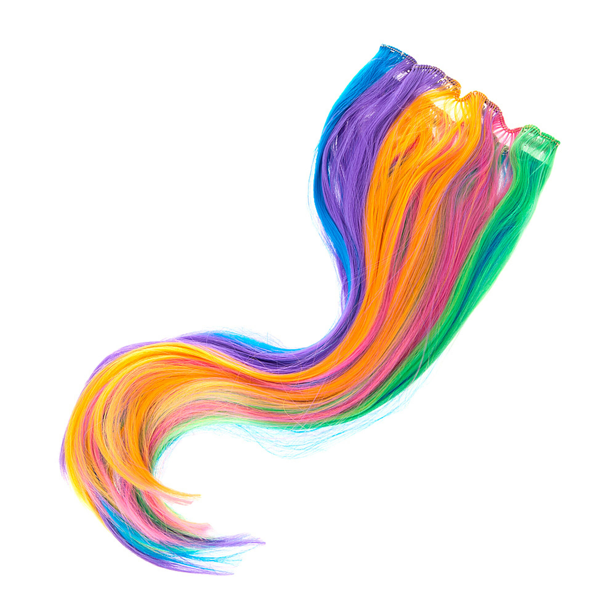 Rainbow Faux Hair Extensions Claires Us