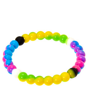 Rainbow Marble Fortune Stretch Bracelet,