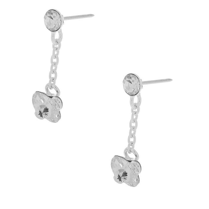 Butterfly Crystal Drop Earrings