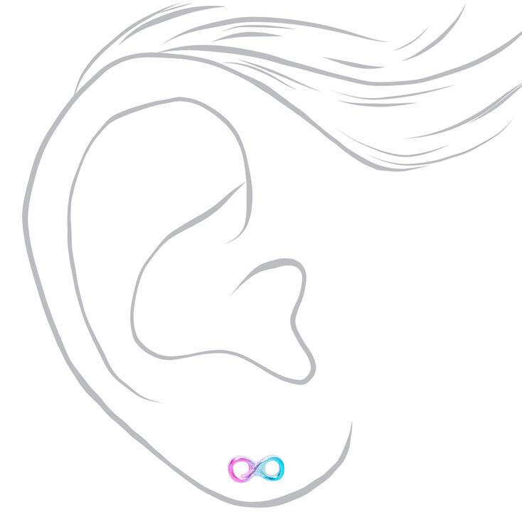 Anodized Ombre Infinity Stud Earrings - Purple,