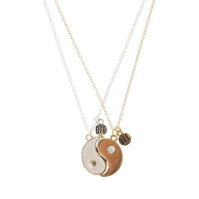 Gold Yin Yang Sign Best Friends Necklace,