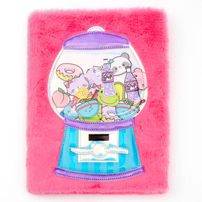 Carnet à dessin en peluche distributeur de chewing-gums - Rose,