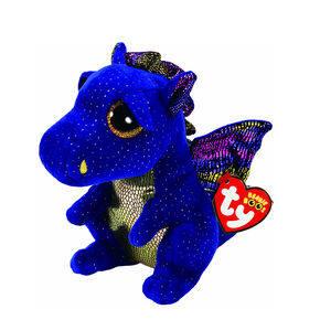 Ty Beanie Boo Small Saffire the Dragon Plush Toy,