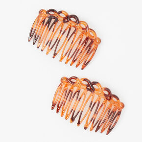 Filigree Tortoiseshell Hair Combs - 2 Pack,