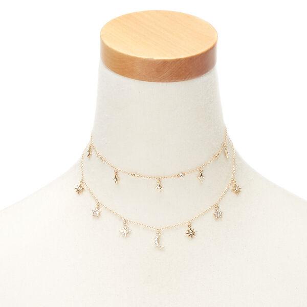 Claire's - celestial multi strand necklace - 1