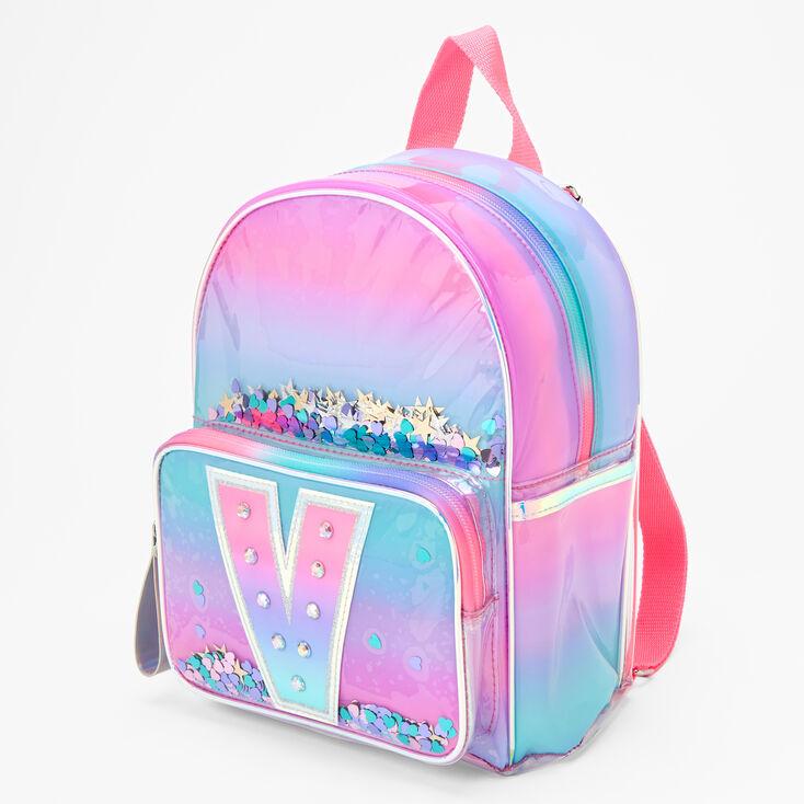 Ombre Shaker Initial Mini Backpack - V,