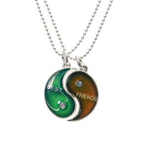 Best Friends Mood Yin Yang Pendant Necklaces,