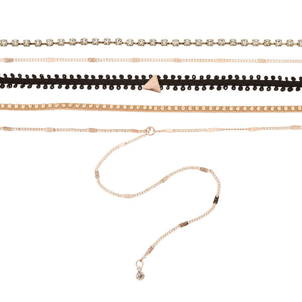 Claire's - 5 pack assorted choker necklaces - 2
