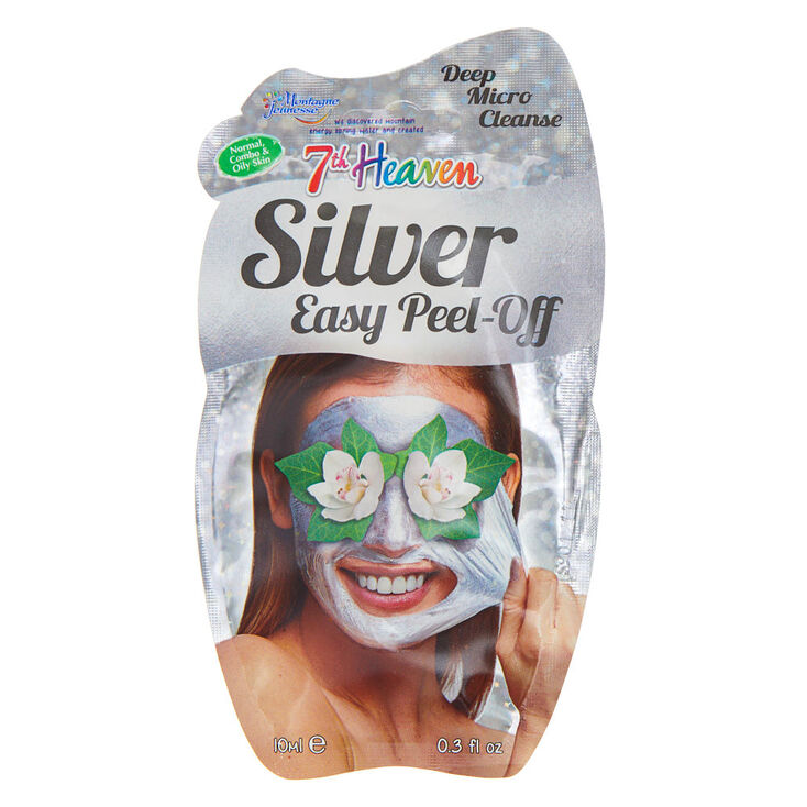 7th Heaven Glitter Peel Off Face Mask - Silver,