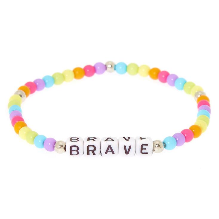 Rainbow Brave Beaded Stretch Bracelet,